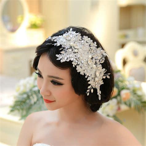 wedding accessories wedding favours bridal accessories handmade lace wedding tiara rhinestone pearl bridal hair