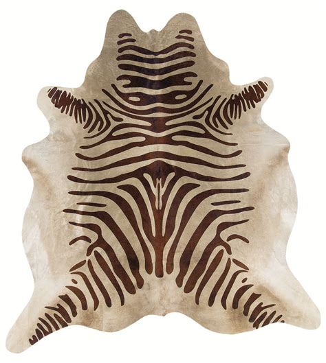 Zebra Cowhide Rugs by Cowhide With Zebra Stencil By Linon Home Decor In Bathroom