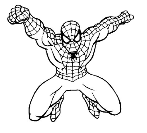 coloring page spider man free spiderman coloring pages for kids coloring home