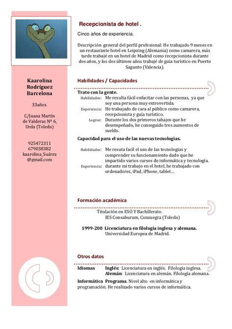 Plantillas De Curriculum Bã Sico Experiencia Para Rellenar Curriculum Vitae
