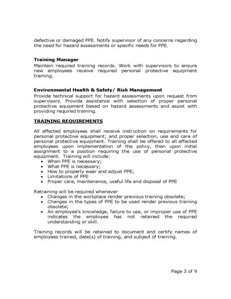 workplace safety program template occupational safety and health policy free