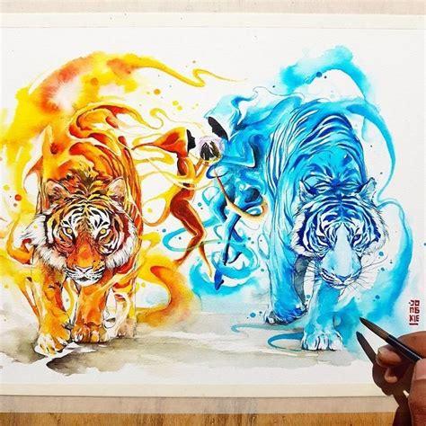 watercolor tattoo artist jakarta дух животных в рисунках выполненных акварелью 30 фото