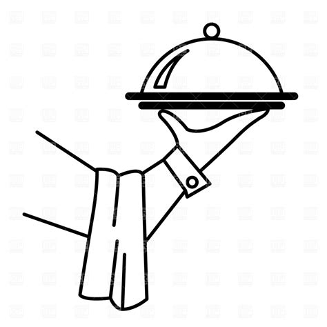 food tray coloring page waiter tray clipart clipart suggest