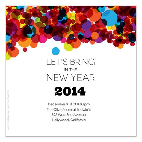 New Year Invitation Card Template Free by Let S Bring In The New Year Invitations Cards On Pingg