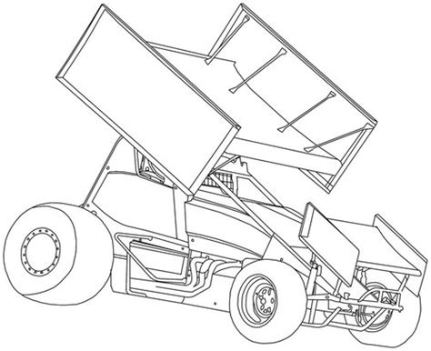 sprint car coloring page race track drawing at getdrawings com free for personal