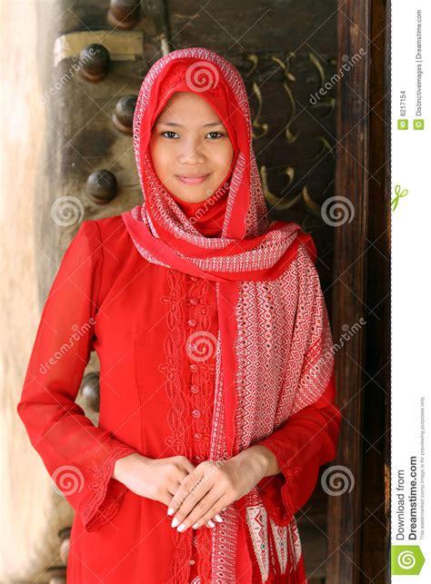 muslim idul fitri stock photo image  pretty fitr face