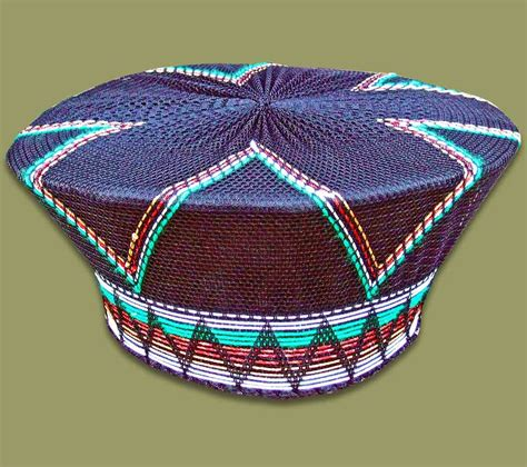 south african zulu hat zulu hat traditional black green brown