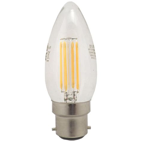 Candle Led Light Bulbs Integral 976890 5 6 Watt Ses E14mm Dimmable Filament Led Candle Bulb