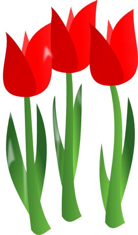red tulips clip art  clkercom vector clip art