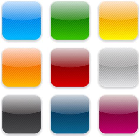 design app buttons app button icons colored vector set 23 application icons