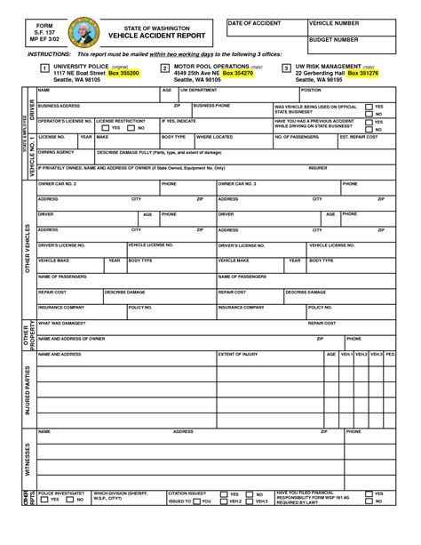 best photos of printable accident report forms printable
