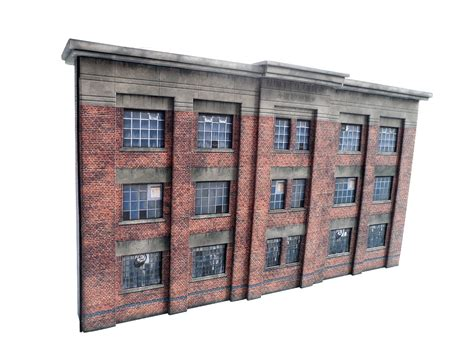 Low Relief 1930's Factory   OO/4mm/1:76   Scale Model Scenery