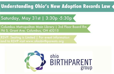 Records In Ohio For Free May Support Groups Free Info Session On Adoption Records Ohio Birthparent