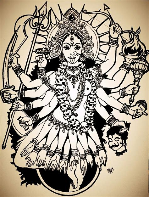 kali tattoo designs kali india goddess my doodles and sketches