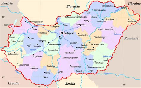hungary map maps of hungary detailed map of hungary in