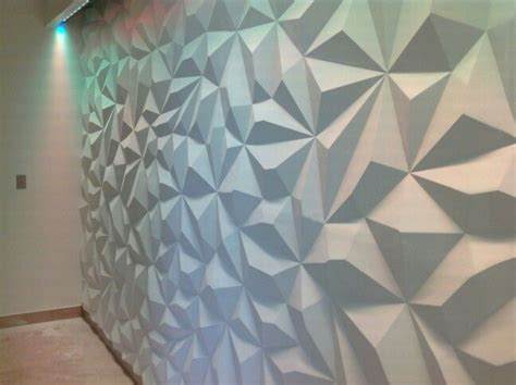 3d wandgestaltung pyramid design 3d wall seamless paintable led lighting