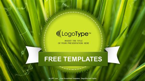 nature powerpoint templates free green leaves nature powerpoint templates