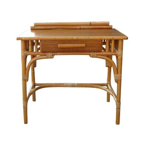 small mid century desk restored small mid century rattan secretarial desk at 1stdibs