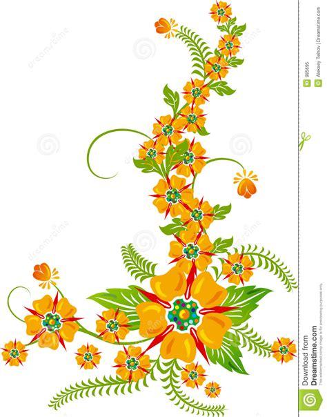 background flower elements for design vector royalty