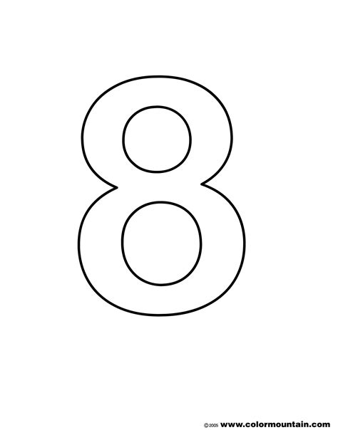 Coloring Pages For Number 8 Free Printable Number Number 8 Coloring Pages