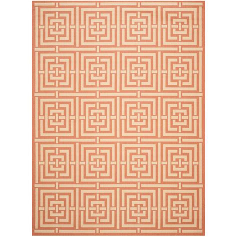 Safavieh Courtyard Terracotta Cream 8 Ft X 11 Ft Indoor Area Rugs At Ross Stores