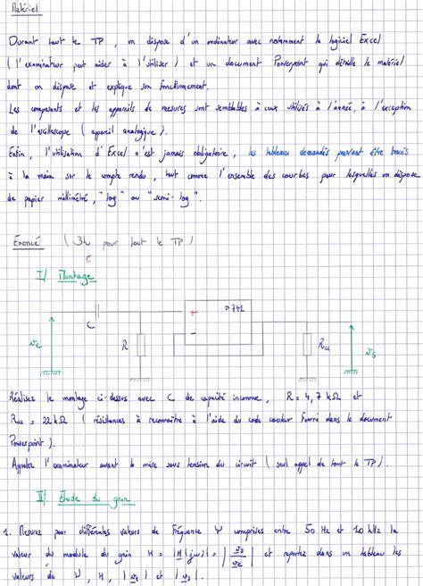 tracer un diagramme de bode sur papier semi log epreuve orale 579 base d 233 preuves orales scientifiques