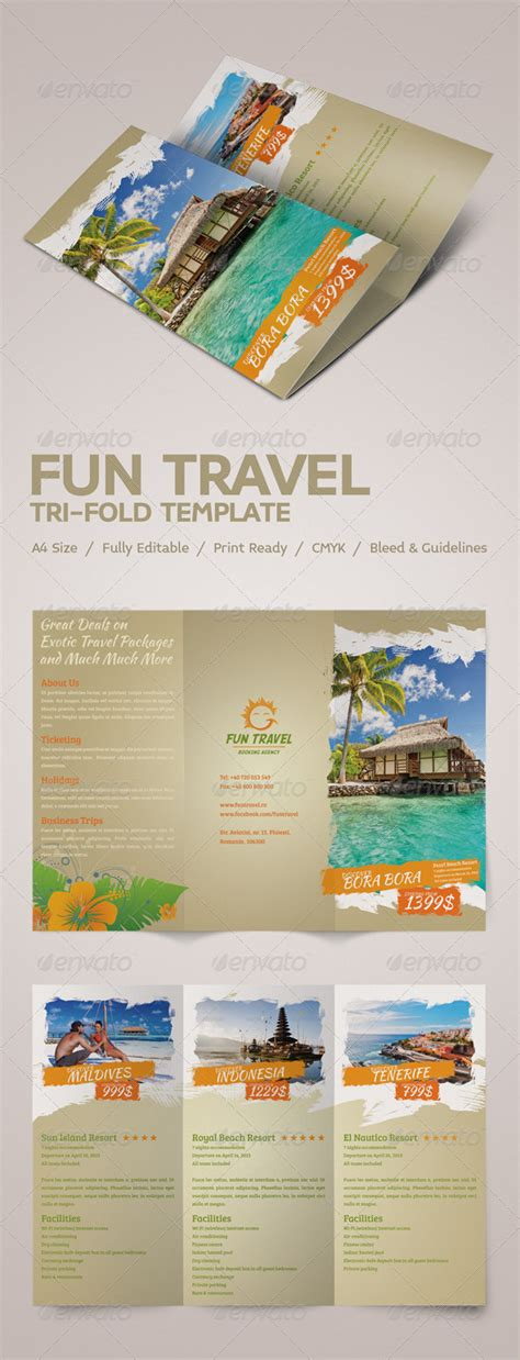 fun travel tri fold brochure graphicriver