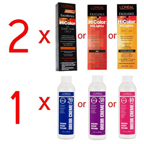 new loreal majicreme hair color developer oxydant your choice 33 8 oz 1000ml ebay 2 loreal excellence hicolor hilights permanent hair color oreor developer creme ebay