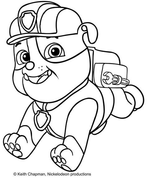 desenhos para colorir imagens para colorir patrulha canina pagina desenhos da patrulha pata para colorir rubble pesquisa
