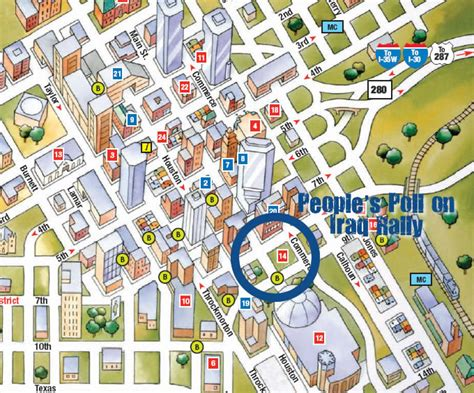 map of downtown fort worth texas american peoples poll on iraq schedule and maps