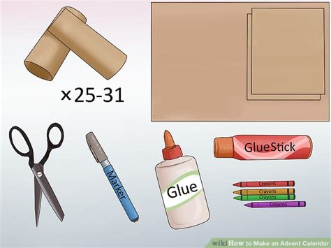 how to make a paper advent calendar 3 ways to make an advent calendar wikihow