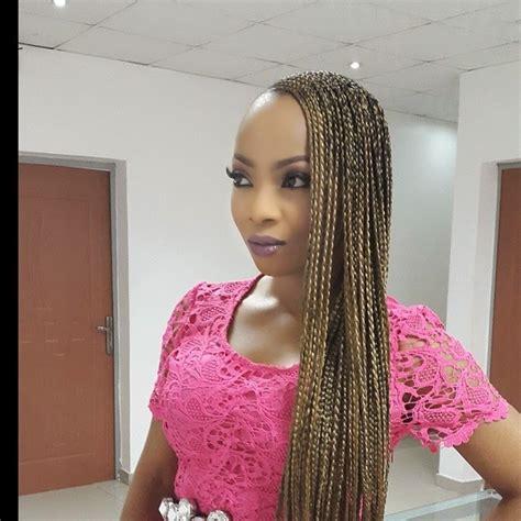 pictures of 2014 nigeria twist toke makinwa stuns in beyonce box braids photos this