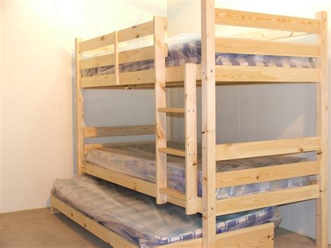Bunk Bed With Guest Bed Everest 2ft 6 Small Single Heavy Duty Solid Pine High Bunk Bed With Guest Bed