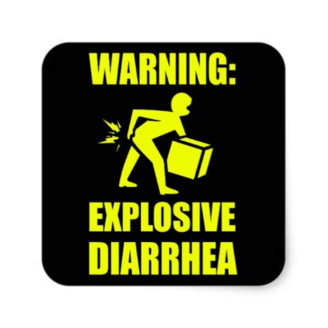 explosive diarrhea explosive diarrhea square sticker zazzle