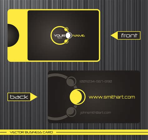 card template with front and back modern business cards front and back template vector 10