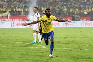 Ck vineeth after scoring against chennaiyin fc picture courtesy isl