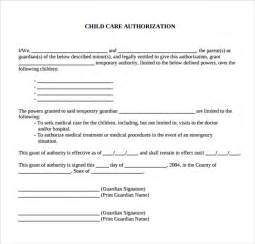 Authorization Letter For Child child care authorization hashdoc letter authorization letter for care