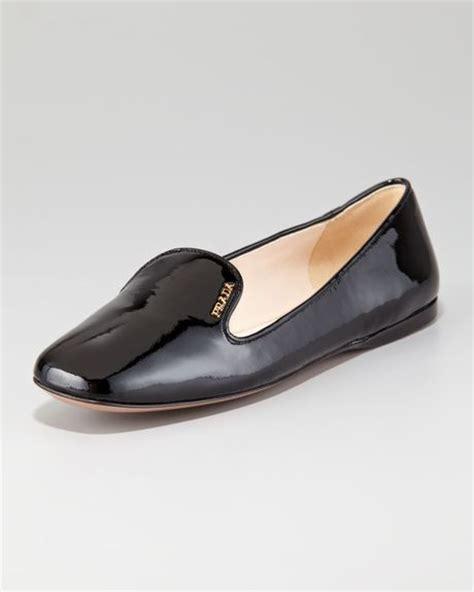 prada slipper prada patent leather slipper in black lyst