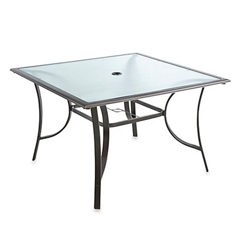 Glass Square Dining Table For 4 44 Inch 4 Person Square Glass Top Dining Table Bed Bath Beyond