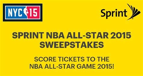Sprint Sweepstakes - sprint nba all star 2015 sweepstakes sweepstakesbible