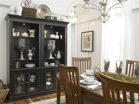 black china hutch cabinet thomasville kitchen cabinets dining room eclectic with