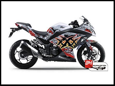 Knalpot Racing Cbr 250 Rr Termignoni Silver Series sticker decal 250 injeksi putih moto green