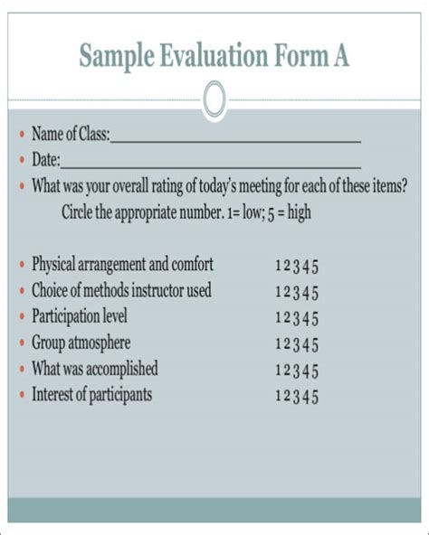activity evaluation form template activity evaluation form template images template design