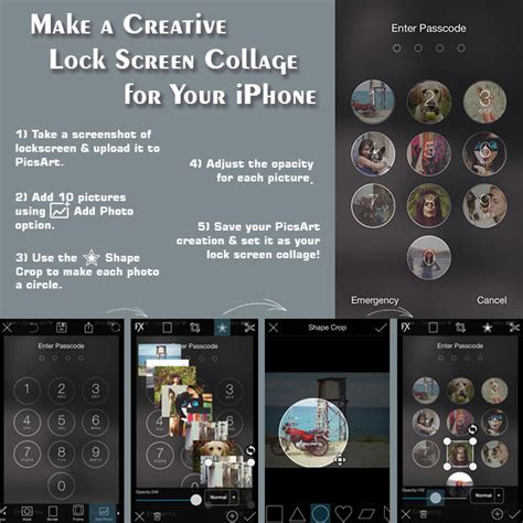 Picsart Tutorial Lock Screen | make a creative iphone lock screen collage create