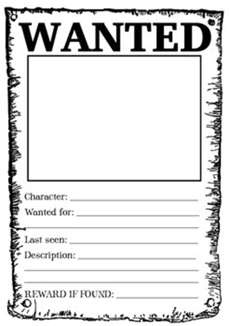 book report wanted poster template wanter poster a wanted poster looks fantastic displayed