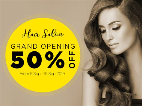 Hair Salon Grand Opening Promotion Design Template 01 Creatily Market Hair Design Templates