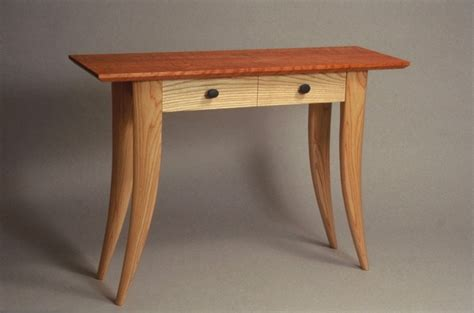 Contemporary Handmade Furniture - custom table with drawers handmade in vermont usa