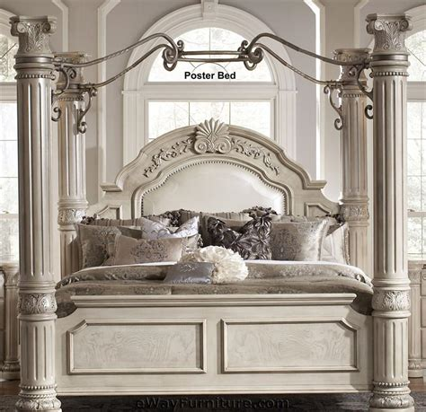 four post bedroom set silver pearl four poster bedroom set with iron canopy