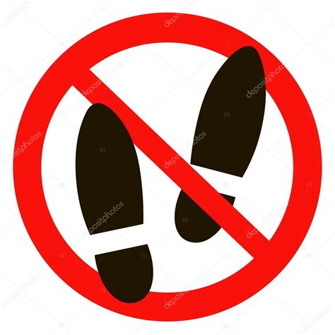 no slippers allowed sign no shoes sign warning prohibited information icon