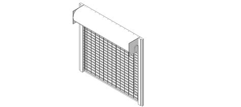 Overhead Door Cad Details Overhead Door Corporation Coiling Doors And Grilles Bim Objects Families